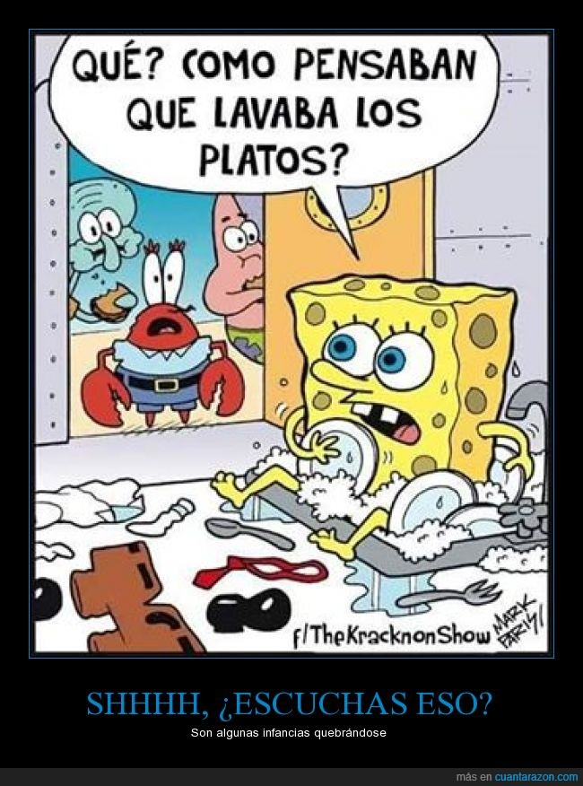 bob esponja,bueno era una esponja,lavar,limpiar,platos