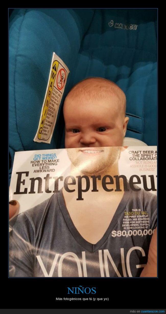 barba,bebe,combinación,foto,modelo,Niño,revista