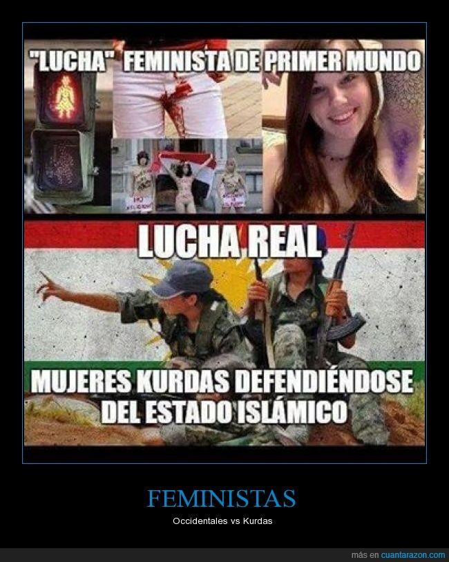 feminazis,feministas,kurdas,mujeres