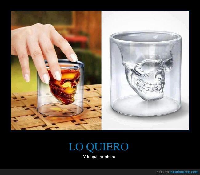 calavera,lastimosamente nunca lo tendré en realidad,show,skull,Vaso,whisky