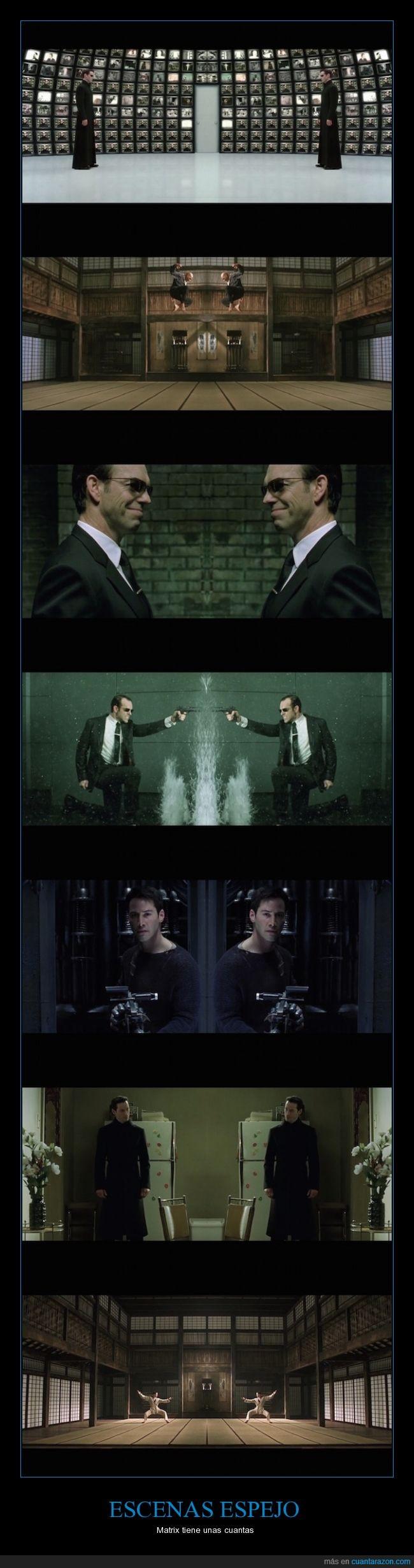 escenas,espejo,matrix,película