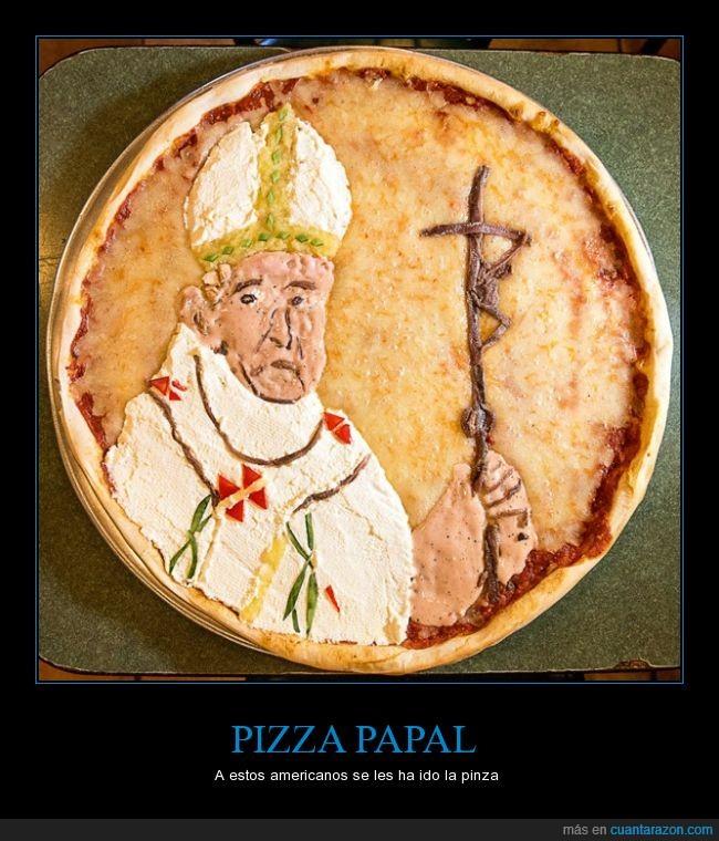 buena pinta,estados unidos,Francisco,Papa,peperoni,pizza,visita del papa