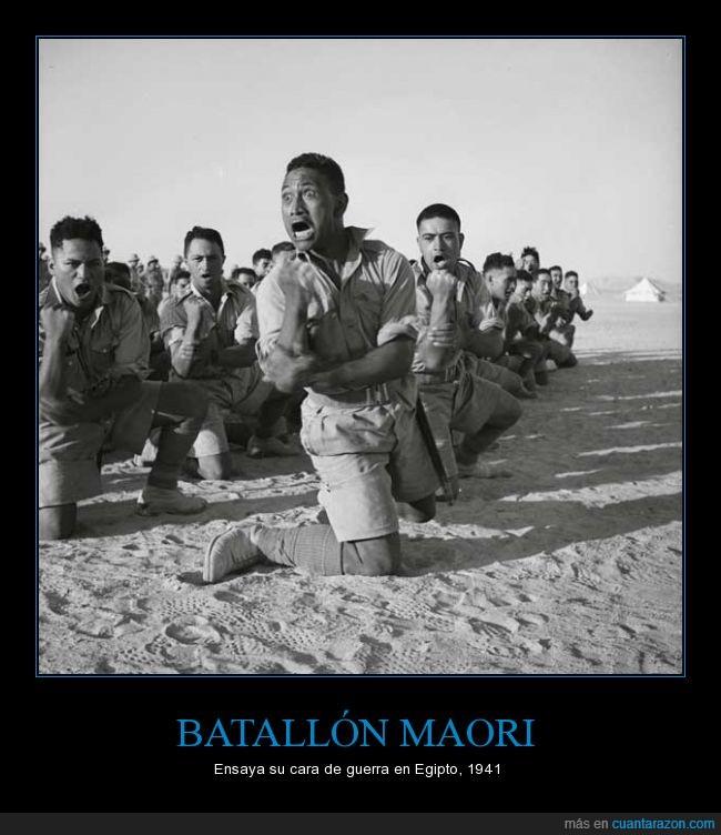 1941,Batallón Maori,cara,Egipto,ensayo,entrenamientos,guerra,Nueva Zelanda,soldados