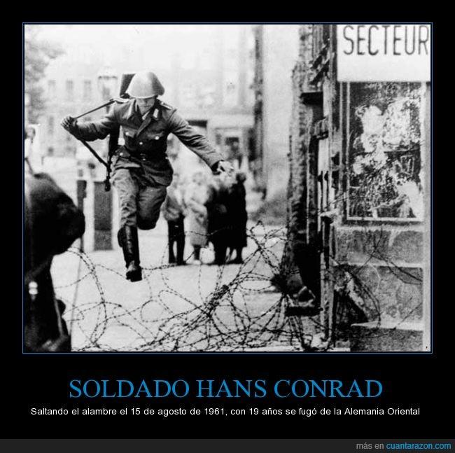 alambrada,Alemán,Alemania,deserción,fuga,Hans Conrad,soldado,valla