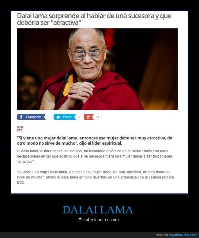 atractiva,dalai lama,LOL,mujer,siguiente,sucesora