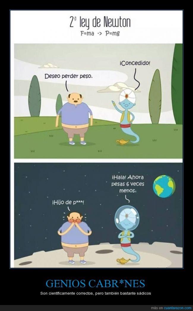 deseo,genio,gordo,gravedad,luna,menos,morir,oxigeno,pedir,pesar,peso,planeta,seis