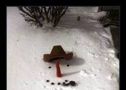 Enlace a Niño, sal a hacer un muñeco de nieve...