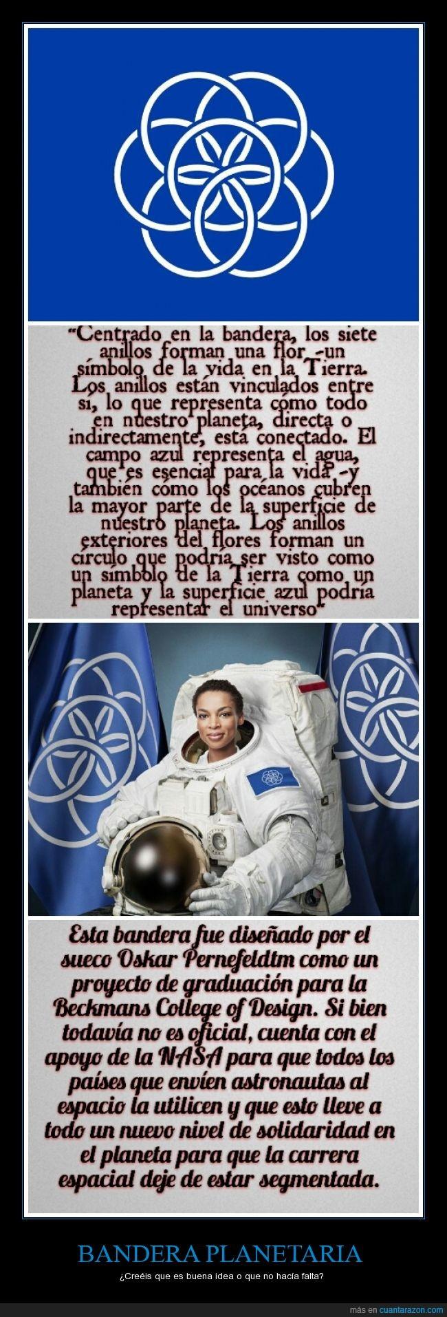 Bandera,La Tierra,NASA,Oskar Pernefeldtm,planeta,propuesta