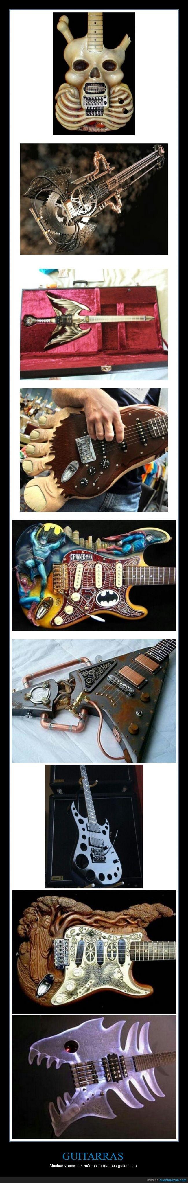 cuerpos,diseños,formas,Guitarras,huesos,raras