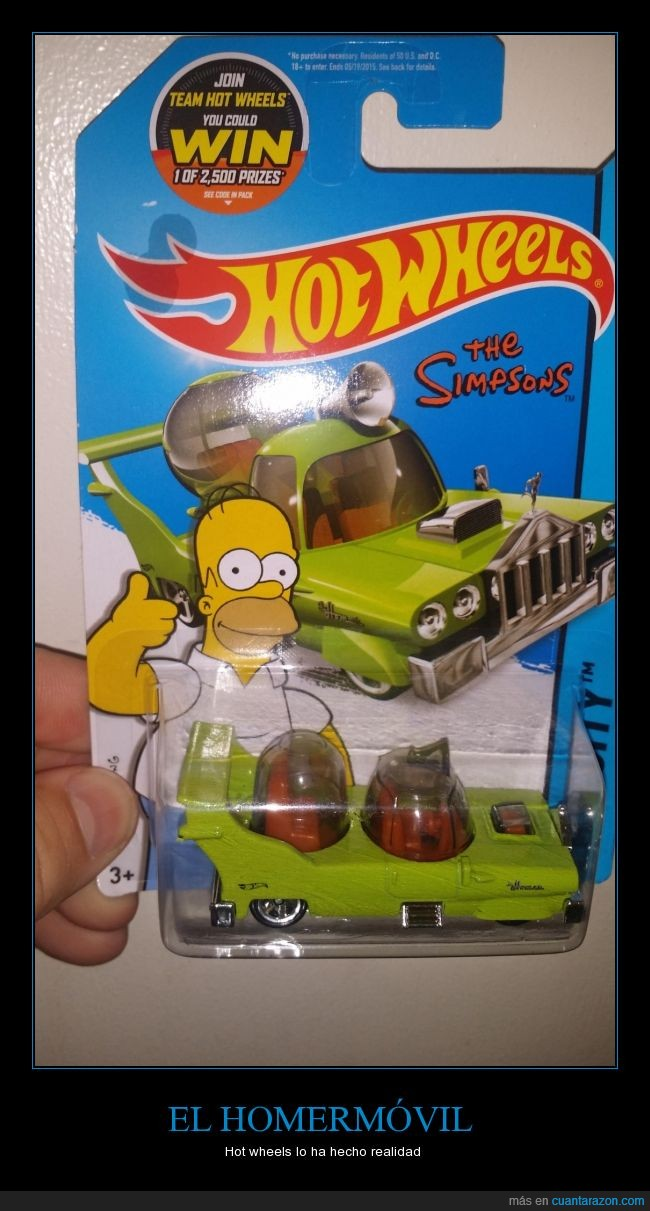 caricatura,coche,dibujos,Homer,Homermóvil,Hot Wheels,réplica,Simpson