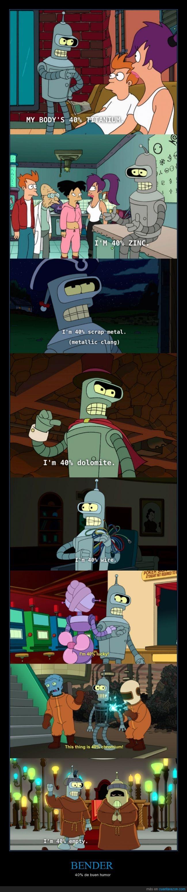 Bender,cables,chromium,dolomita,futurama,porcentaje,suerte,titanio,vacio,zinc