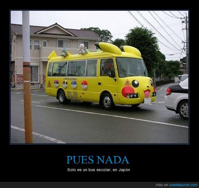 autobús,colegio,escolar,japón,pikachu,pokemon