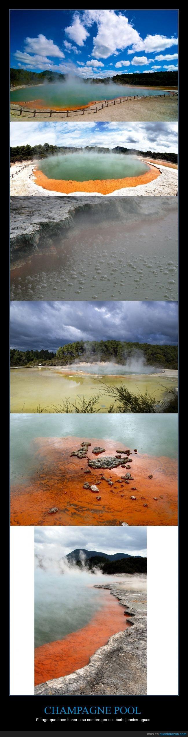 altos compuestos de arsénico y antimonio,bonito,lago,naturaleza,Nueva Zelanda,piscina de champagne,Wai-O-Tapu