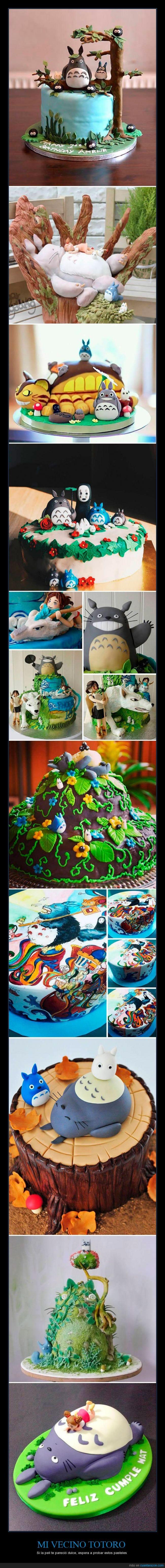 bosque,cumpleaños,mi vecino totoro,pastel,tarta,totoro