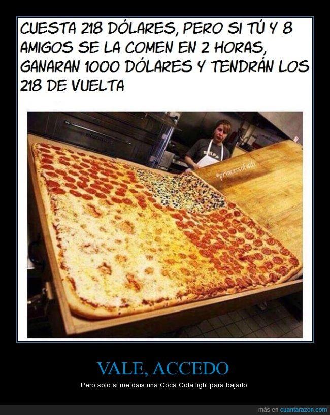 amigos,comida,dólares,hambre,pizza,pizza gigante