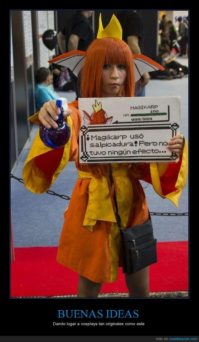 cosplay,magikarp,original,pokémon,salpicadura