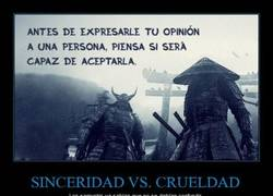 Enlace a SINCERIDAD VS. CRUELDAD