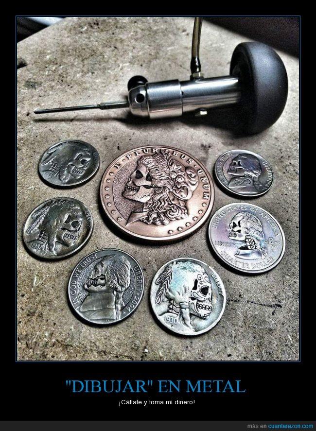 alteraciones,calavera,caras,Lápiz,monedas,monedas mejoradas,relieve,rostros,sugarskull