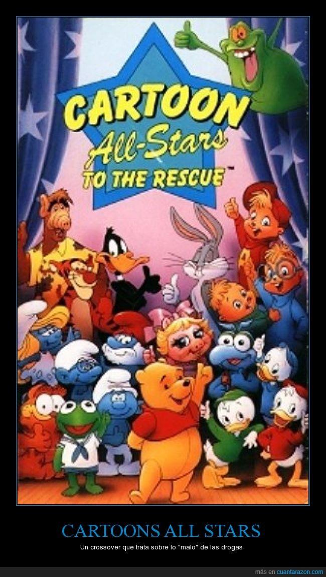 Cartoon All-stars,Drogas,ignorancia en el tema,muchos de sus creadores usaban drogas seguro,Muy pocos lo vieron