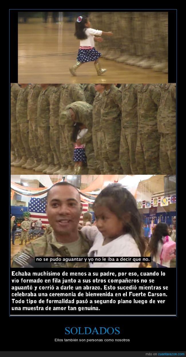 familia,hija,Militar,no olvidar,nosotros,personas,soldado