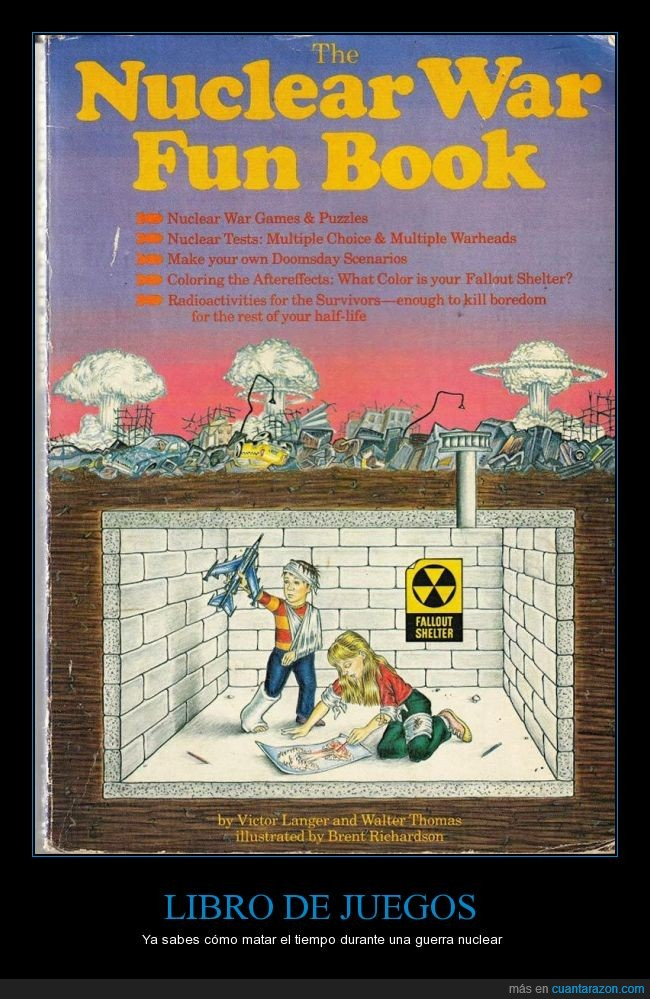 entretenimiento,fallout shelter,guerra,juegos,libro,niños,nuclear