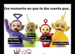 Enlace a Los Teletubbies son mortífagos