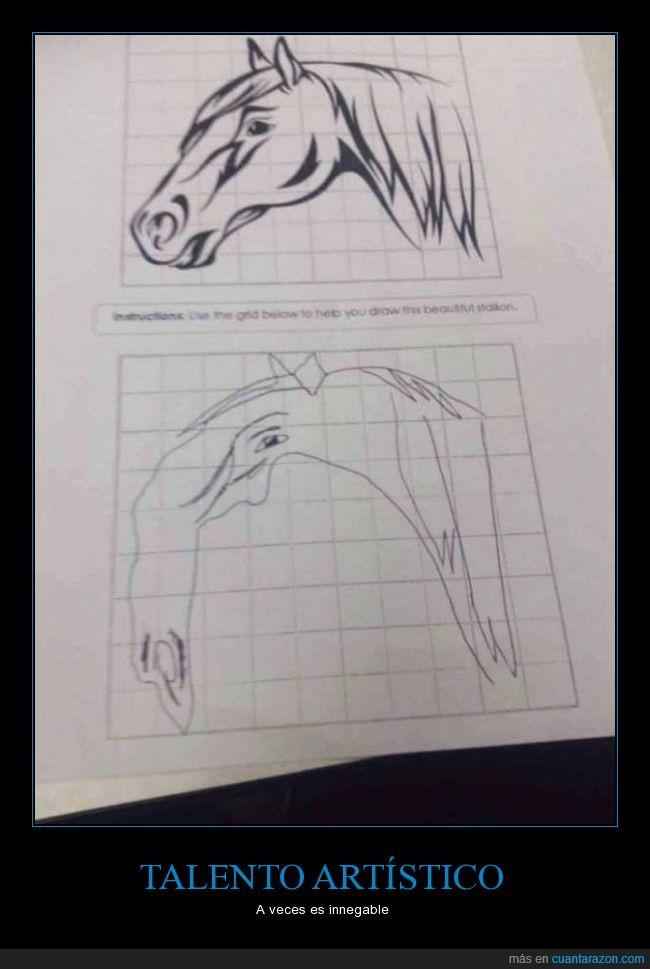 caballo,dibujar,dibujo,imitar,intentar