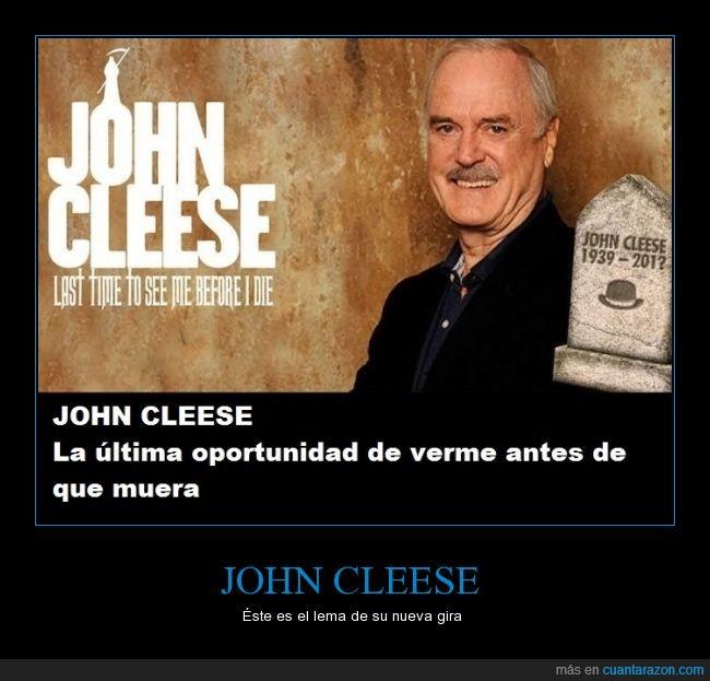 actor,comedia,gira,humor,humorista,John Cleese,La última oportunidad