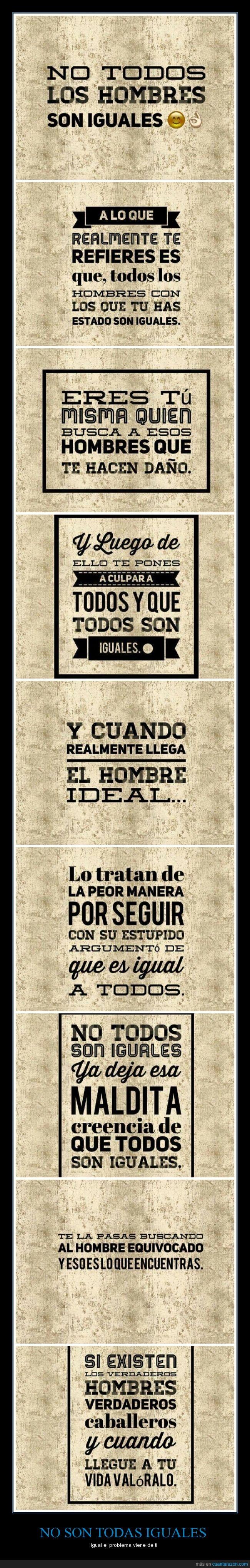 carteles,estereotipos,hombres,iguales,Mensajes,mentiras,mujeres,reflexión,todos