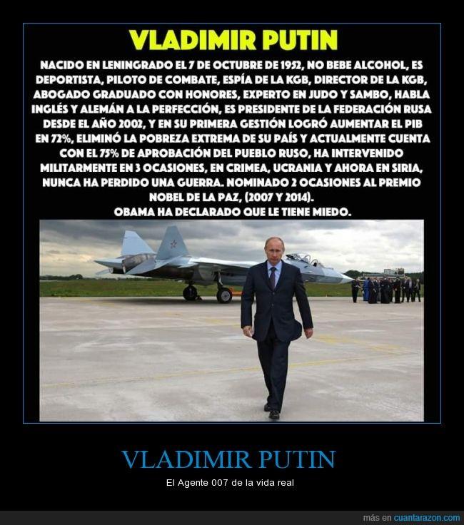 007,agente,hablar,idiomas,KGB,presidente,Rusia,superheroe,Vladimir Putin