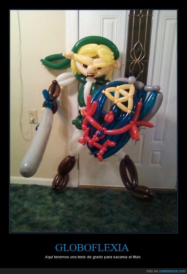 figura,globoflexia,globos,La leyelda de Zelda,Link,videojuego,Zelda