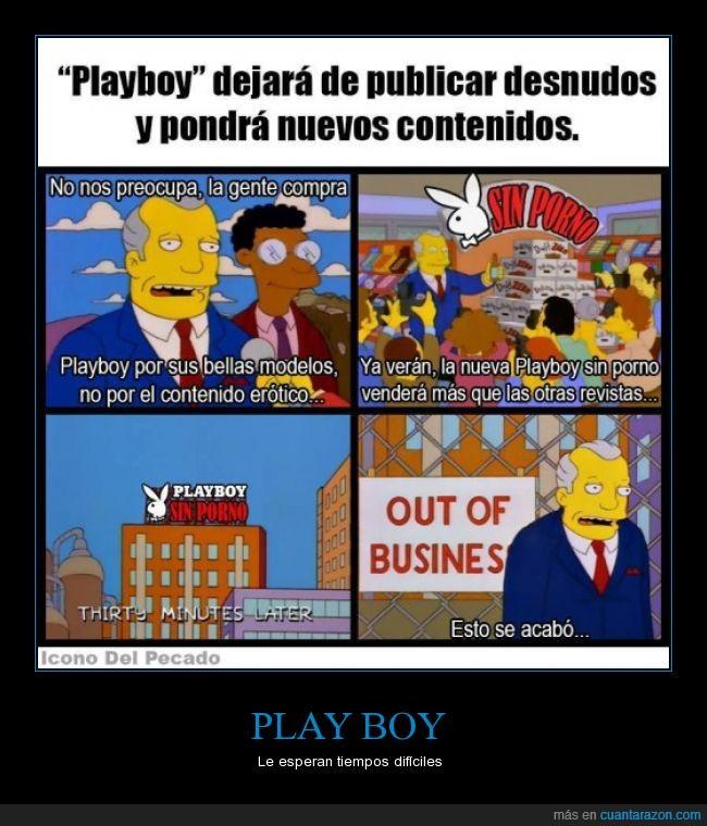 Los simpson,play boy,playboy,ruina total,sin desnudos