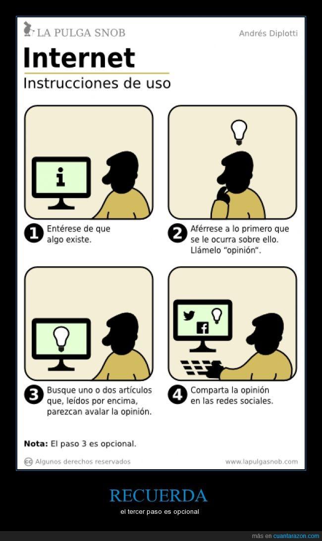 curiosidad,instrucciones,Internet,opinión,política,pulga,redes sociales