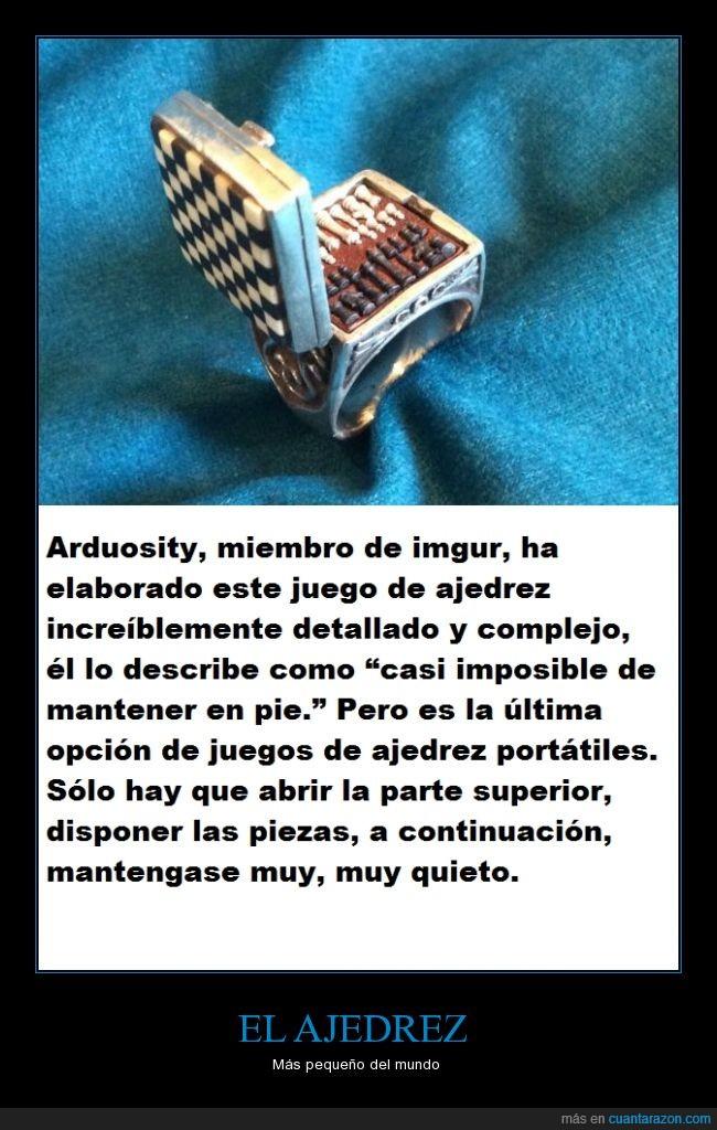 Ajedrez,anillo,diminuto,juego,miniatura,piezas