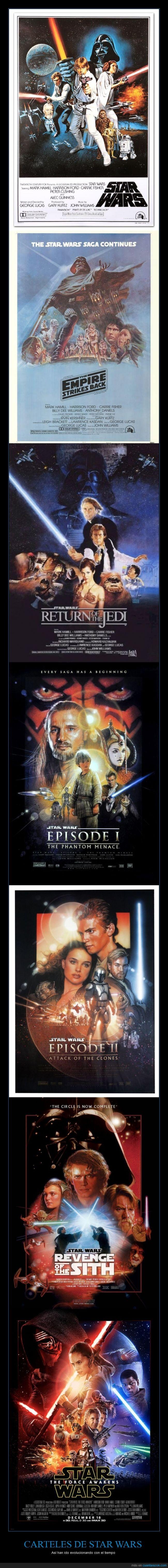 cartel,El despertar de la fuerza,evolución,La Guerra de las galaxias,Star Wars