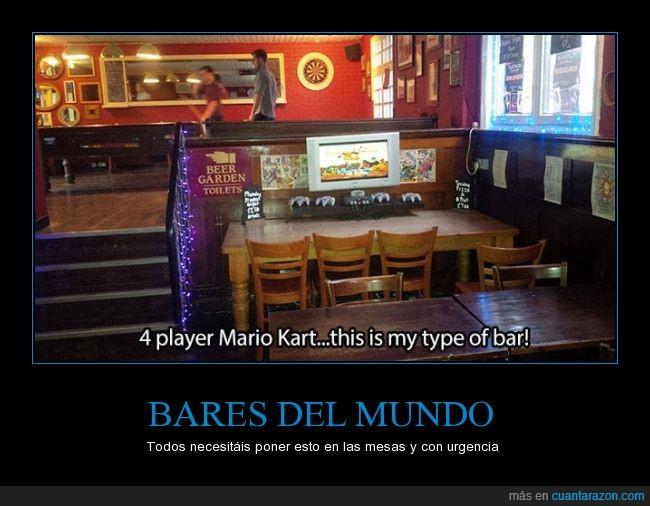 bar,bares,comer,comida,mario,Mario Kart,mesa,mundo,n64,nintenderos,Nintendo 64,tele