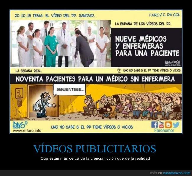 doctor,enfermera,España,medico,partido popular,politica,PP,recortes,salvar,sanidad
