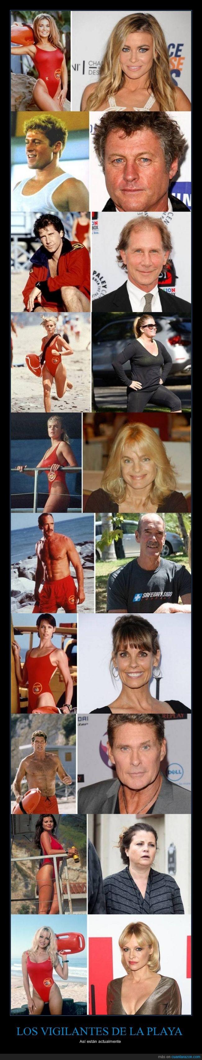 actor,actriz,David Hasselhoff,Pamela Andersen,playa,vigilante