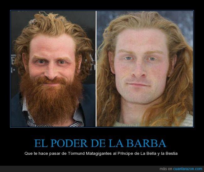 afeitado,afeitar,barba,barbudo,Game of Thrones,Juego de tronos,Kristofer Hivju,Matagigantes,principe,Salvaje,Tormund