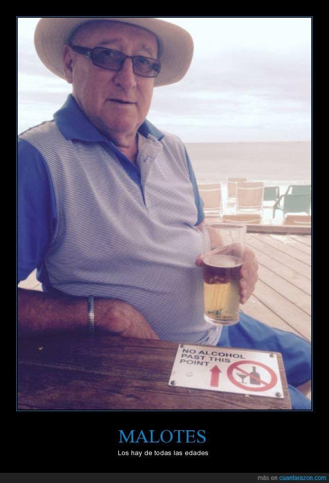 abuelo,alcohol,beber,bebida,cerveza,crucero,hombre,malote,señor