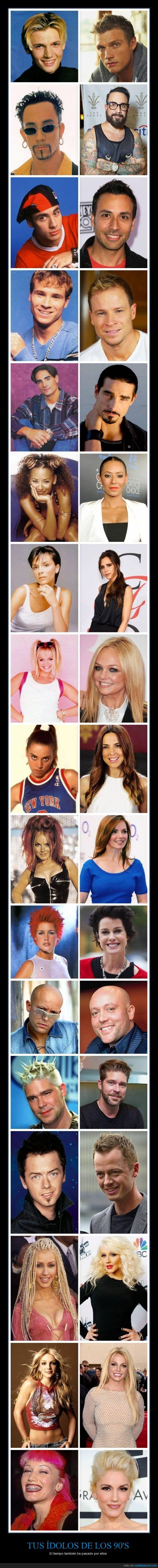 90's,Aqua,Backstreet Boys,Britney Spears,Christina Aguilera,decada,Gwen Stefani,idolos,noventas,Spice Girls