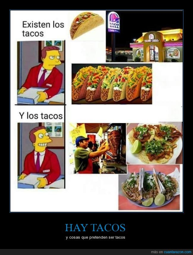 auténtico,comida,Lionel Hutz,mexicana,mexicanos,México,Real,Simpson,taco bell,tacos,tacos reales,tortillas,verdadero