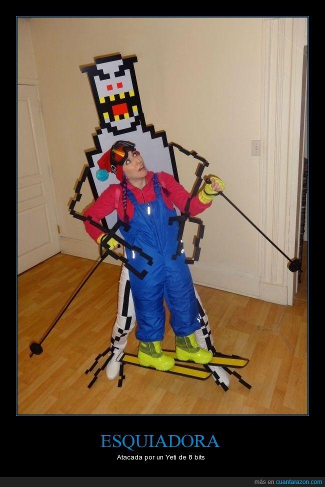 Cosplay,disfraz,esquís,Halloween,originalidad,Ski free,SkiFree
