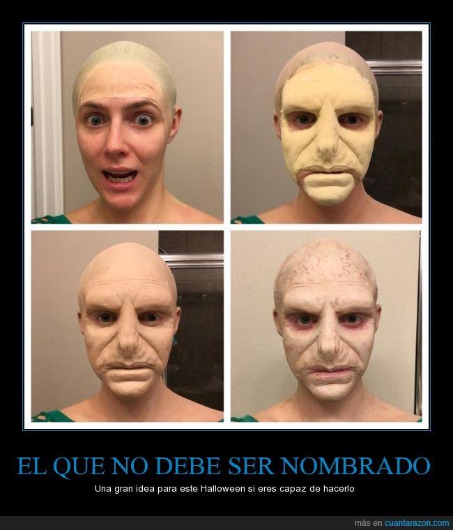 disfraz,halloween,Harry Potter,maquillaje,Voldemort
