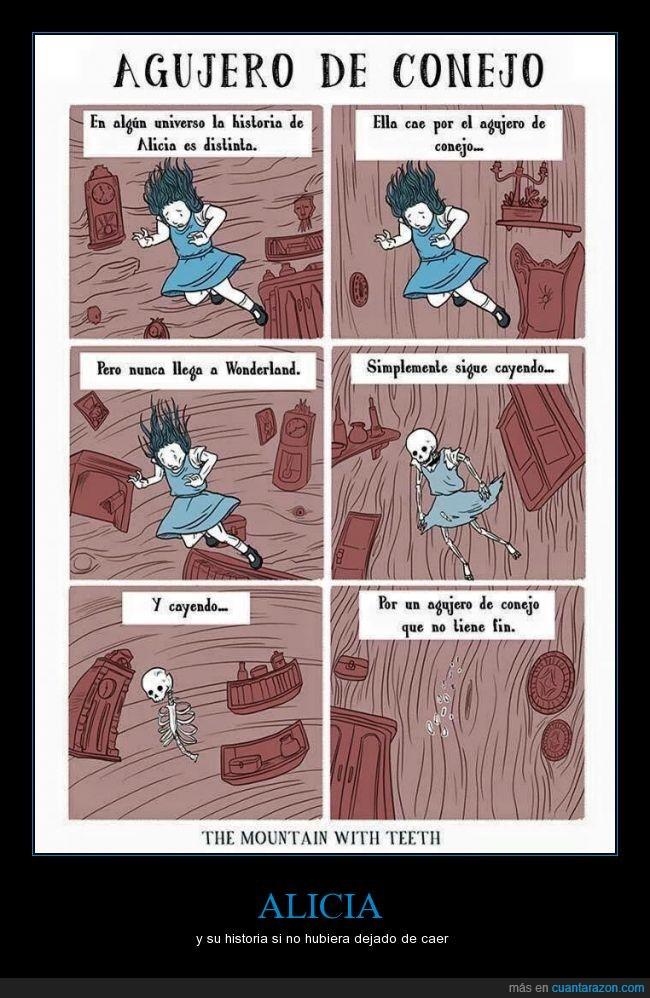 alicia,caer,creepy,esqueleto,maravillas,muerte,muerto,pais