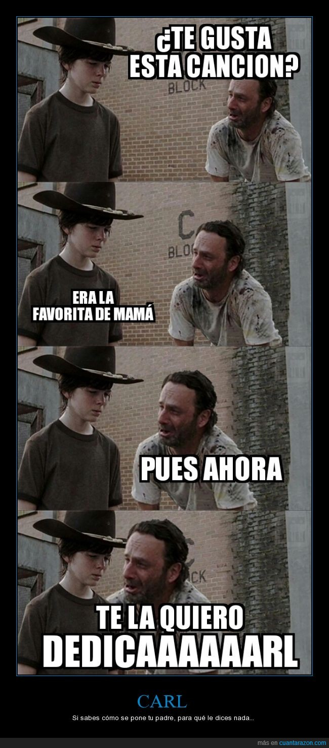 cancion,Carl,Darryl,dedicarl,madre,mama,Rick,The Walking Dead,TWD,Walking Dead,Zombi,Zombies