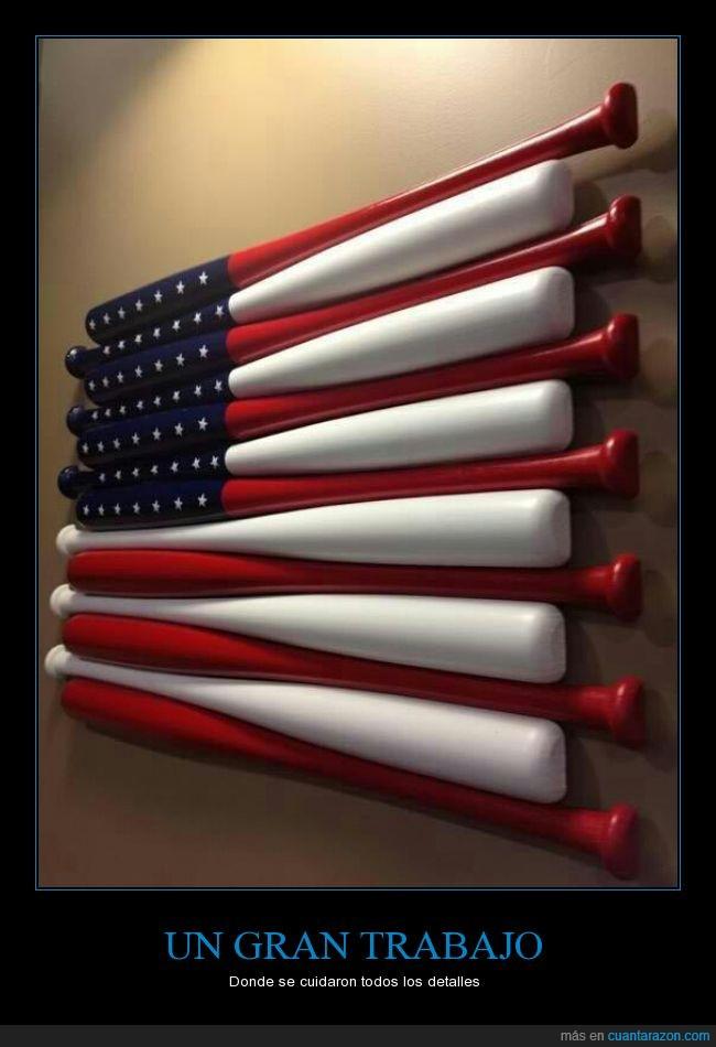 Bandera,baseball,bate,Estados Unidos,USA