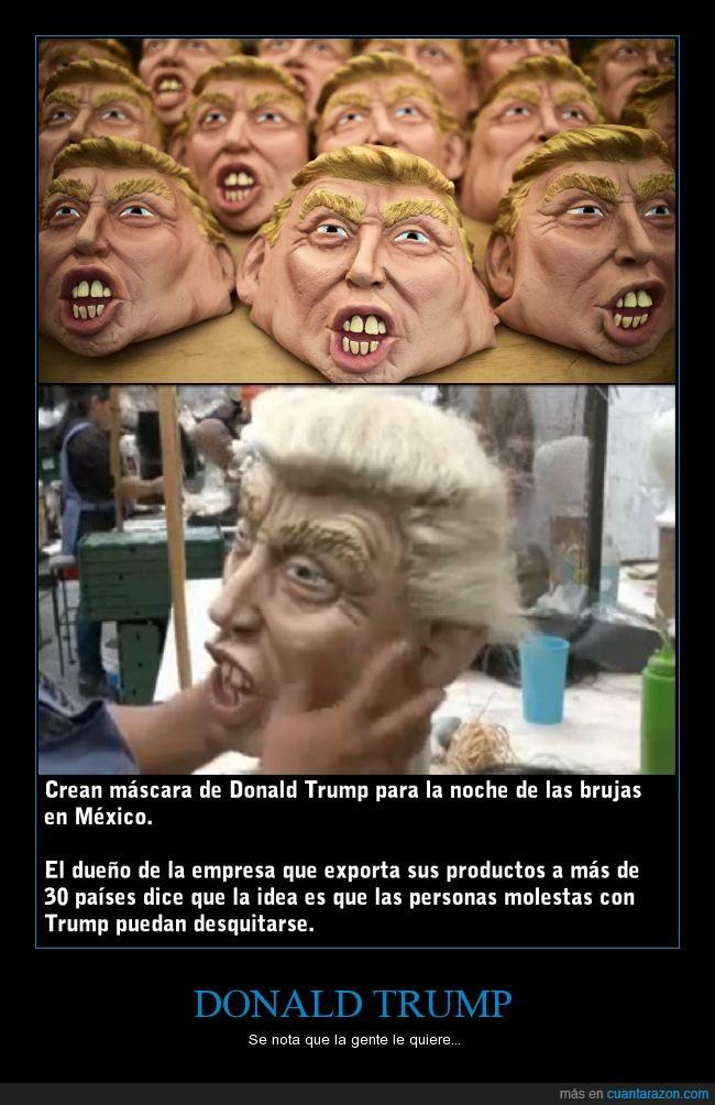 careta,Donald Trump,Halloween,Mascaras,Mexico,miedo,pelo,susto,tupé