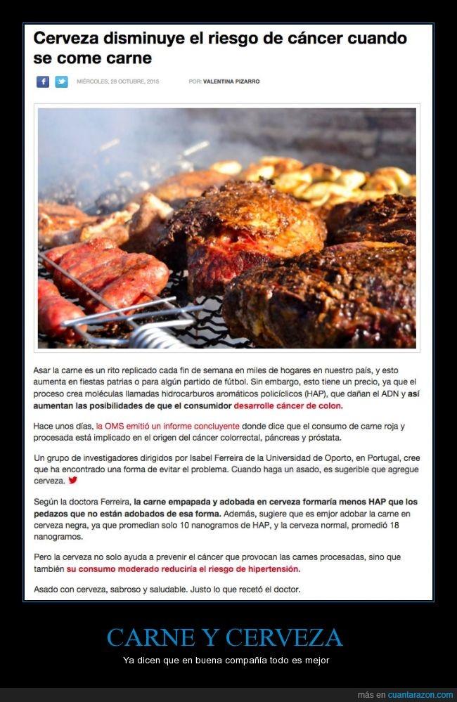 adobada,carne,cerveza,comer,comida,procesada