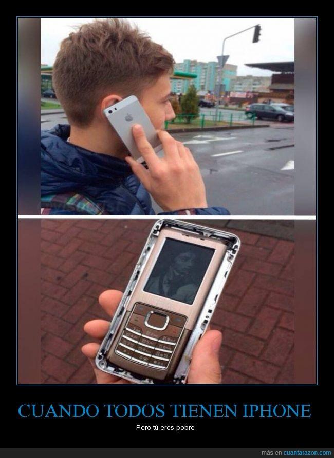 funda,iphone,movil,pobre,teléfono